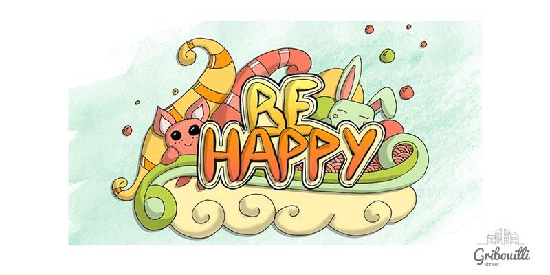 Be Happy ! Couleurs acidulés coloriage numérique
