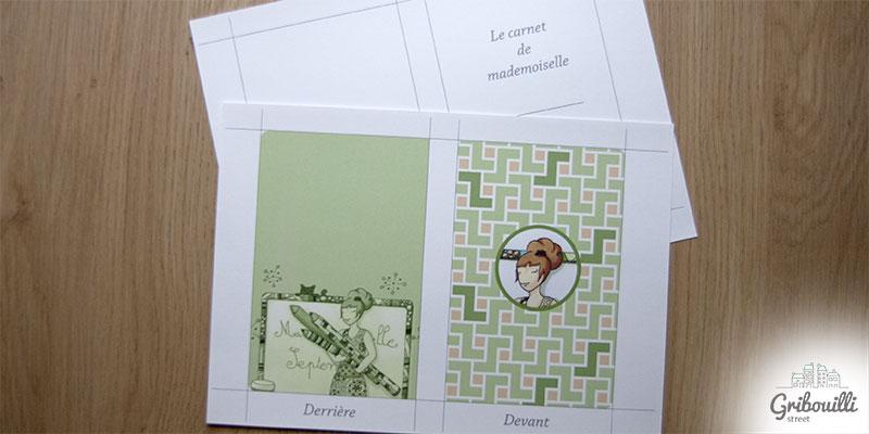 Etape 1 -> imprimer le design de la couverture