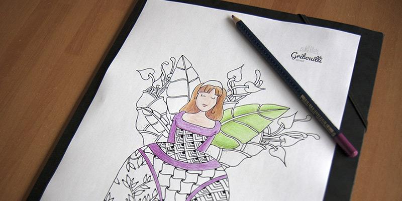 Coloriage aux crayons de couleur