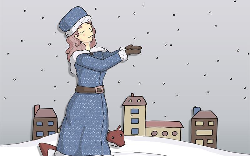 Mademoiselle Janvier dans sa version colorisée numériquement