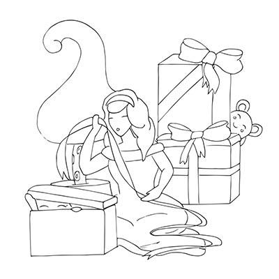 Le dessin de base de Mademoiselle Décembre
