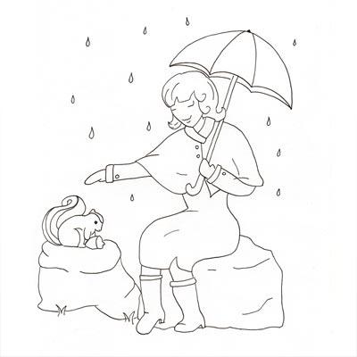 Mademoiselle Novembre étape 1 - le dessin de base