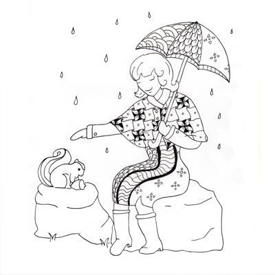 Mademoiselle Novembre se couvre de motifs zentangles