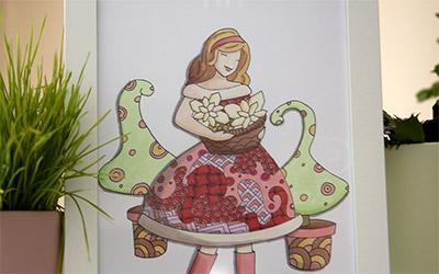 Illustration de la demoiselle