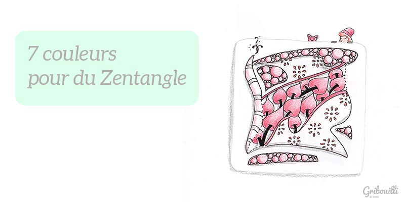 7 couleurs pour du zentangle : rouge